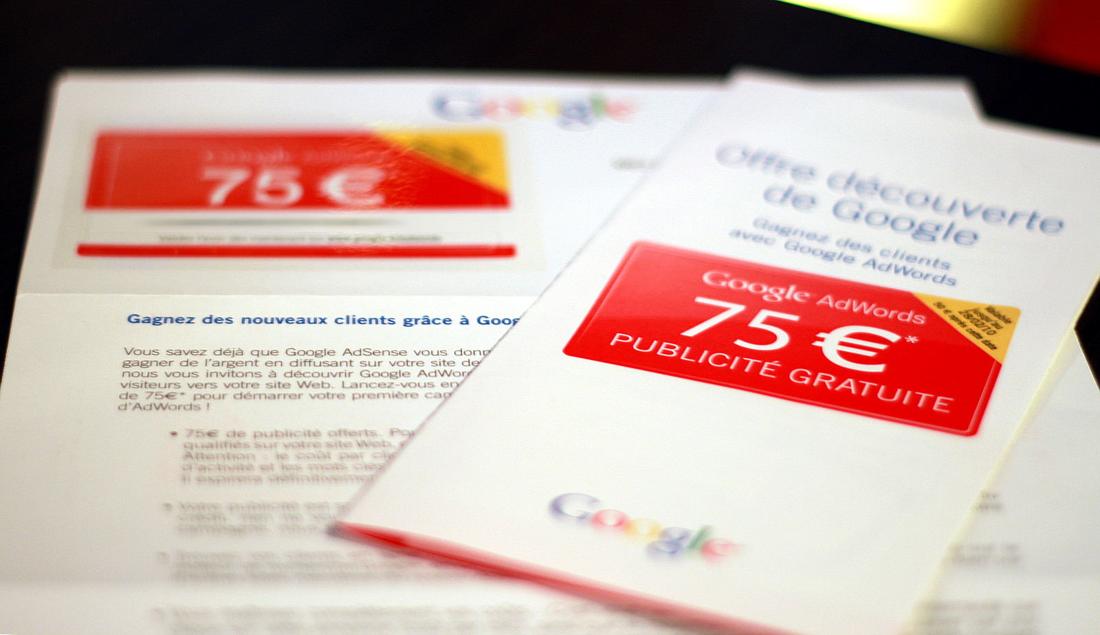 google ad-words 75 euros coupon
