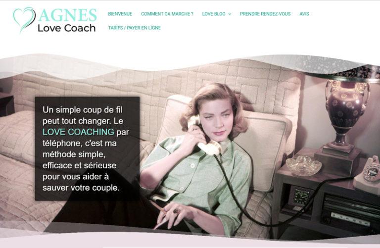 site réalisé - agnes love coach