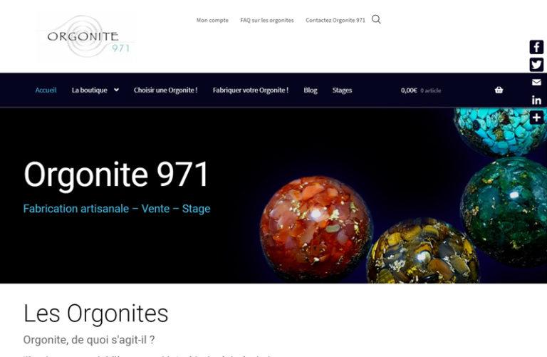 site réalisé - Orgonite 971